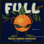 FULL Citrus Label, WAVERLY, Florida