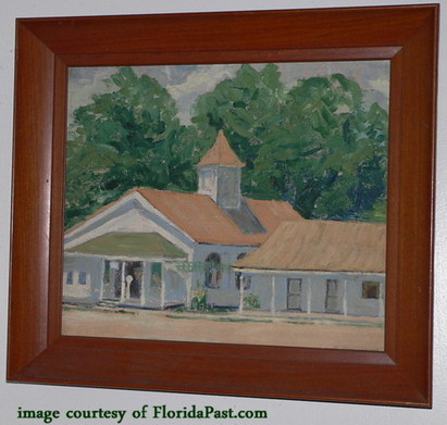 A TRUE FloridaPast Roadside Church with a Fruit Stand -CLICK TO SEE LARGE IMAGE