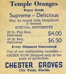 Givin' Ya'llz a glimpse of Chester's Prices from FloridaPast timez