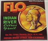 FLO BRAND LABEL - INDIAN RIVER, OAK HILL, FLORIDA
