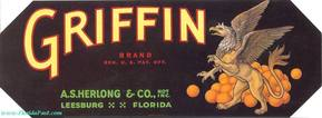 GRIFFIN BRAND CITRUS LABEL - LEESBURG, FLORIDA