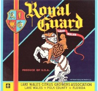 Royal Guard - LAKE WALES, Polk County Florida Label