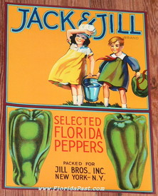 RARE JACK & JILL FLORIDA PEPPERS LABEL