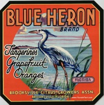 BLUE HERON - BROOKSVILLE FLORIDA LABEL