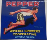 PEPPER BRAND LABEL - WAVERLY, FLORIDA