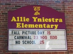 Allie Yniestra Elementary School, where Marsha's Mom, her brothers and sisters attended